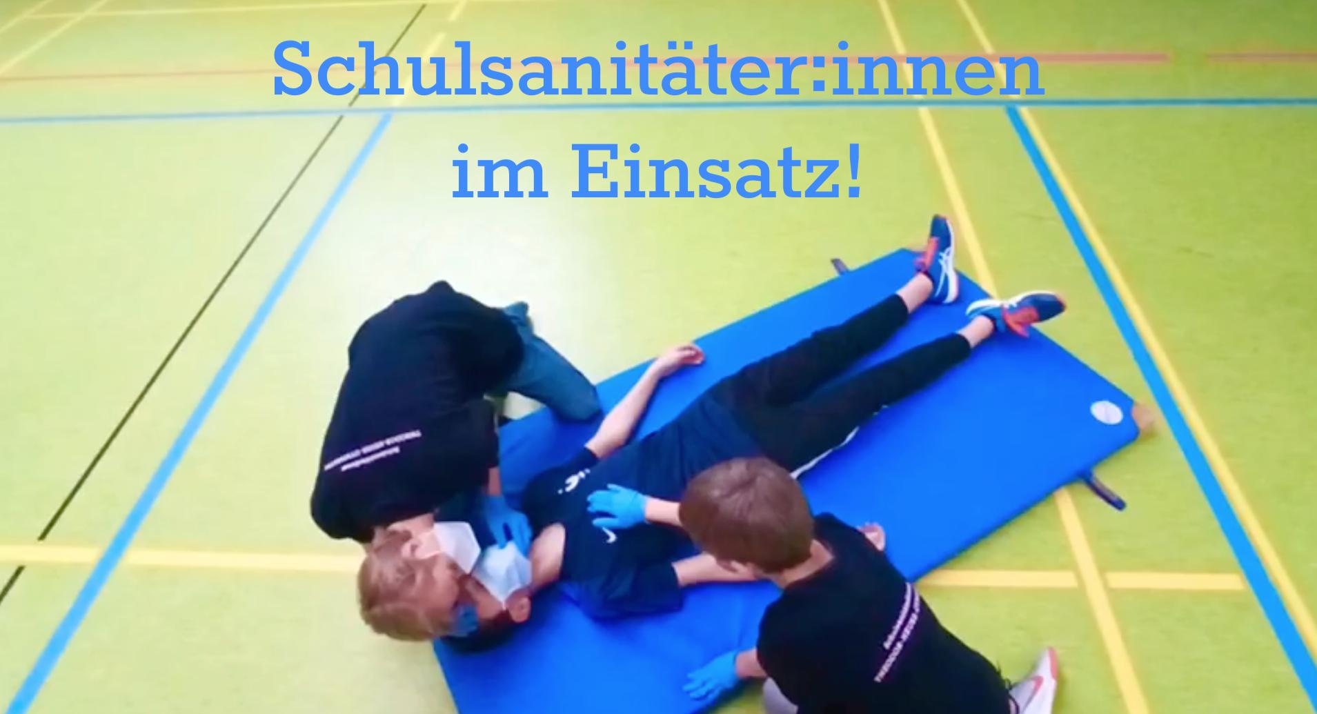 Erste Hilfe rettet Leben – Unsere Schulsanitäter:innen informieren!